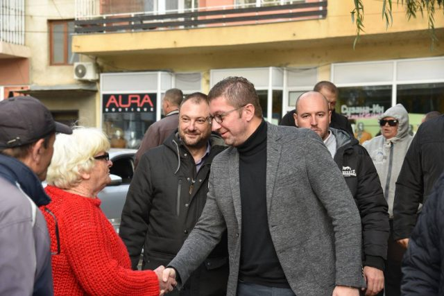 Лидерот на ВМРО-ДПМНЕ Христијан Мицковски на средба со граѓаните на Кочани