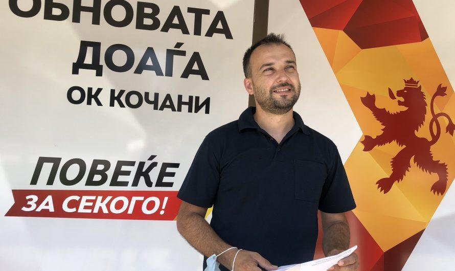 Реакција на кандидатот за пратеник на ВМРО-ДПМНЕ Миле Лефков