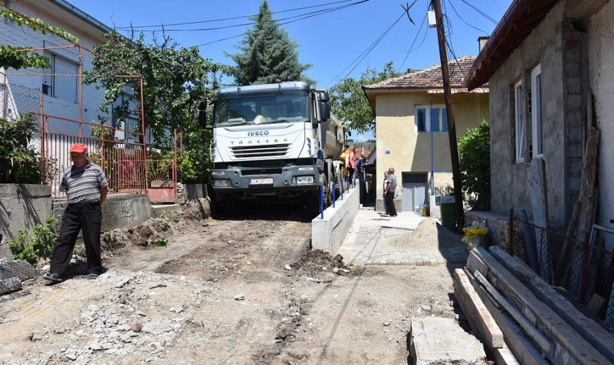 "Подготовки за асфалтирање на улицата ""Васил Главинов"""