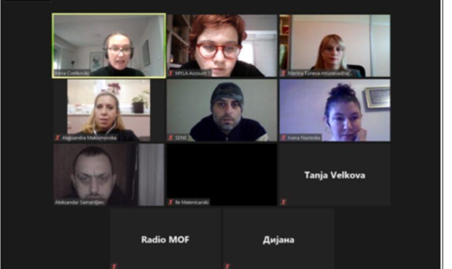 """Одржана онлајн работилница на тема """"Родово сензитивно известување и улогата на новинарот во сузбивање на насилството врз жените"""""""