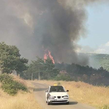 Пожарот над Кочани стигна до Фабриката за вода, се интервенира со сите расположливи ресурси
