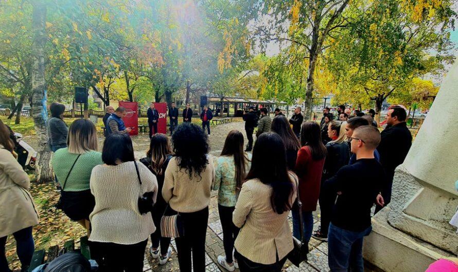 Младинска средба на членовите на ЛК на СДММ – Кочани со кандидатот за градоначалник Илијев и претседателот на млади на СДММ, Михаилоски