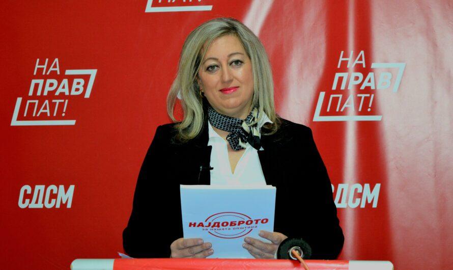 Прес – конференција на Сузанa Постоловска, кандидат за советник од СДСМ и коалицијата